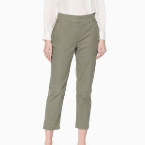 Kate Spade Slim Straight Chino Pants Ruffle Pocket